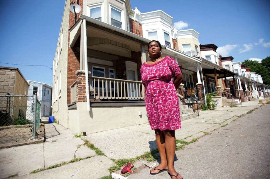 Lakisha Briggs, a victim of domestic violence, faced eviction from this rental home in Norristown, Pa. She is now challenging Norristown's nuisance-property ordinance that forced her to move. Photo: JESSICA KOURKOUNIS, STR / NYTNS