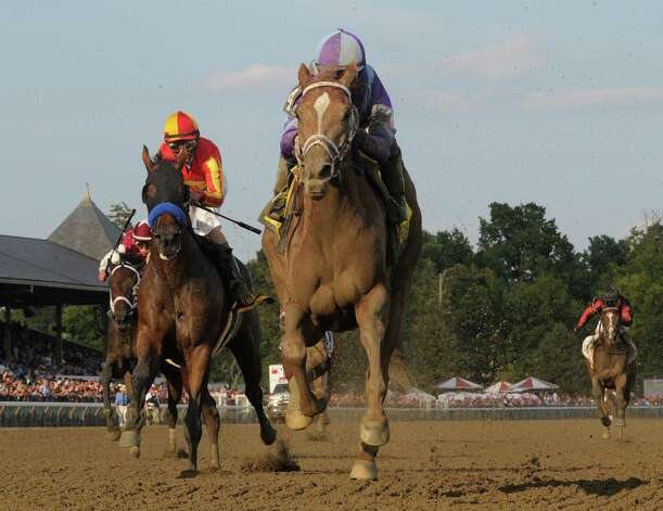 Princess of Sylmar with jockey Javier Castellano in the irons decimated at field of five to win the 133rd running of The Alabama Aug 17, 2013 at the Saratoga Race Course in Saratoga Springs, N.Y.    (Skip Dickstein/Times Union) Photo: SKIP DICKSTEIN