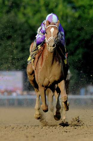 Princess of Sylmar with jockey Javier Castellano in the irons decimated at field of five to win the 133rd running of The Alabama Aug 17, 2013 at the Saratoga Race Course in Saratoga Springs, N.Y.    (Skip Dickstein/Times Union Photo: SKIP DICKSTEIN