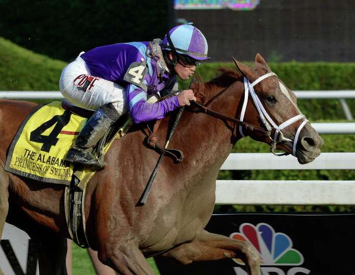 Princess of Sylmar with jockey Javier Castellano in the irons decimated at field of five to win the