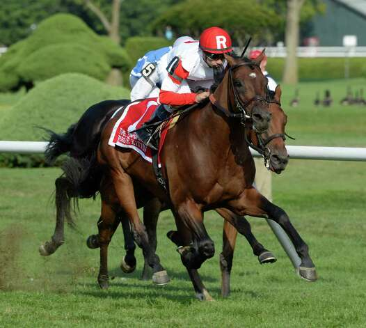 Big Blue Kitten with jockey Joe Bravowins The Sword Dancer Invitational  17, 2013 at the Saratoga Race Course in Saratoga Springs, N.Y.    (Skip Dickstein/Times Union) Photo: SKIP DICKSTEIN