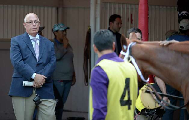 Ed Stanco, Principal owner of Princess of Sylmar watches her in the paddock before winning the 133rd running of The Alabama Aug 17, 2013 at the Saratoga Race Course in Saratoga Springs, N.Y.    (Skip Dickstein/Times Union) Photo: SKIP DICKSTEIN
