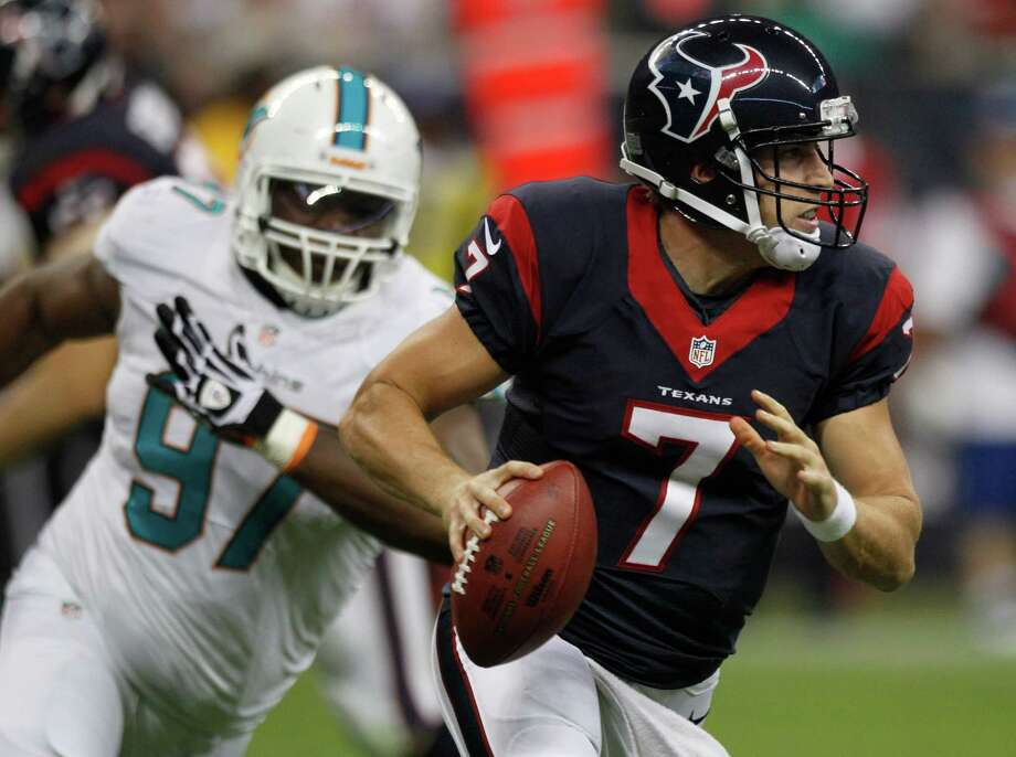 Case Keenum saw extensive action in the preseason and is in the mix to start Sunday at Kansas City, with coach Gary Kubiak saying a decision on whether it will be Matt Schaub, T.J. Yates or Keenum is coming later in the week. Photo: Brett Coomer, Staff / © 2013  Houston Chronicle