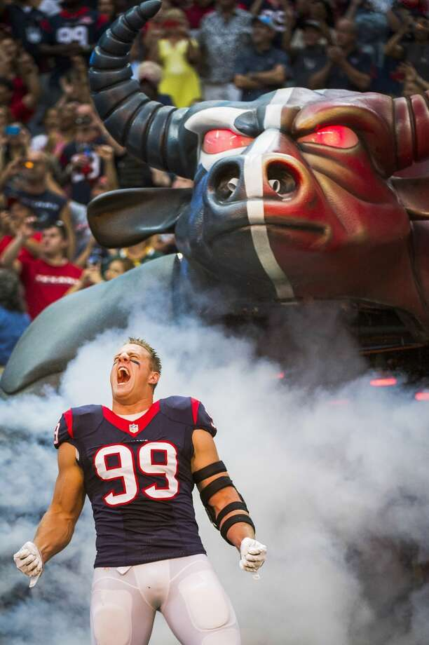 Texans 24, Dolphins 17  J.J. Watt takes the field for the Texans preseason opener against the Dolphins. Photo: Smiley N. Pool, Houston Chronicle