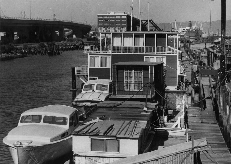 Houseboats at Mission Creek. August 31, 1981. Photo: Fred Larson, The Chronicle