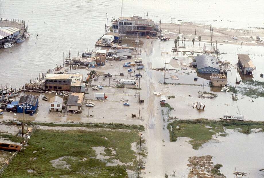 Damage in Kemah, August 19, 1983. Photo: Curtis McGee, Houston Chronicle
