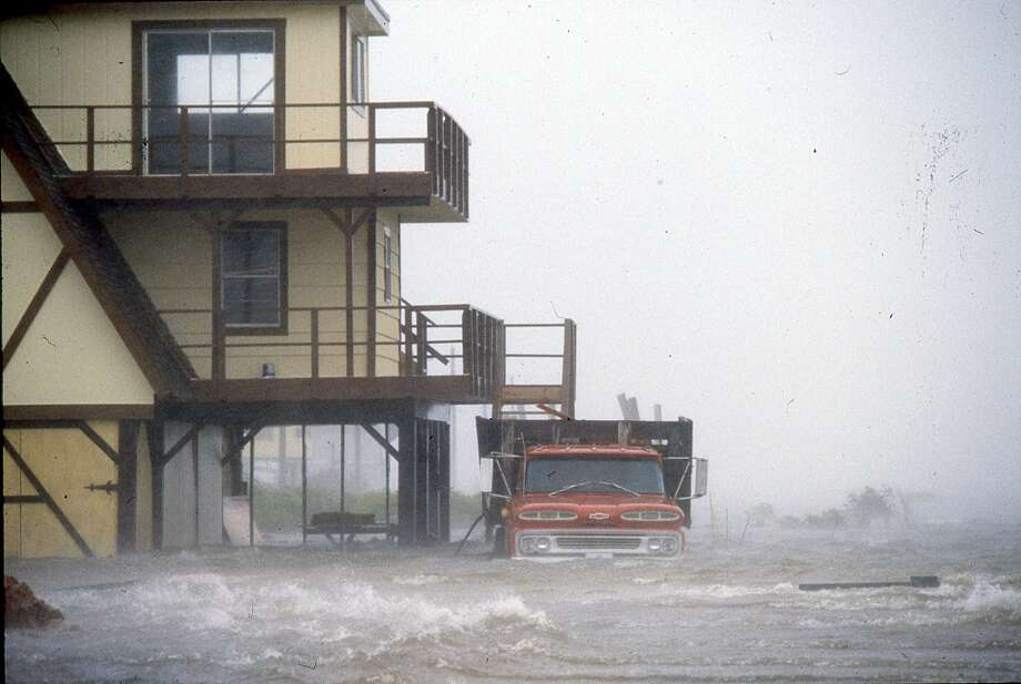 Hurricane Alicia nearing the Gulf Coast, August 17, 1983. Photo: Houston Chronicle