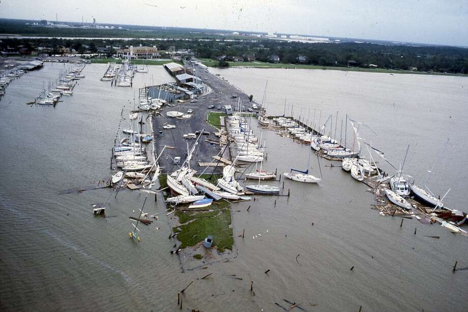 Hurricane Alicia damage, August 1983. Photo: Houston Post
