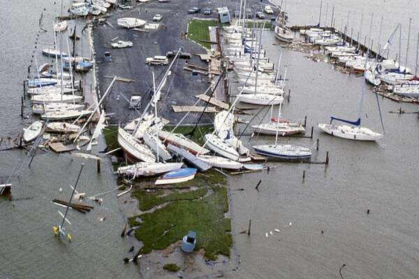 Hurricane Alicia damage, August 1983.