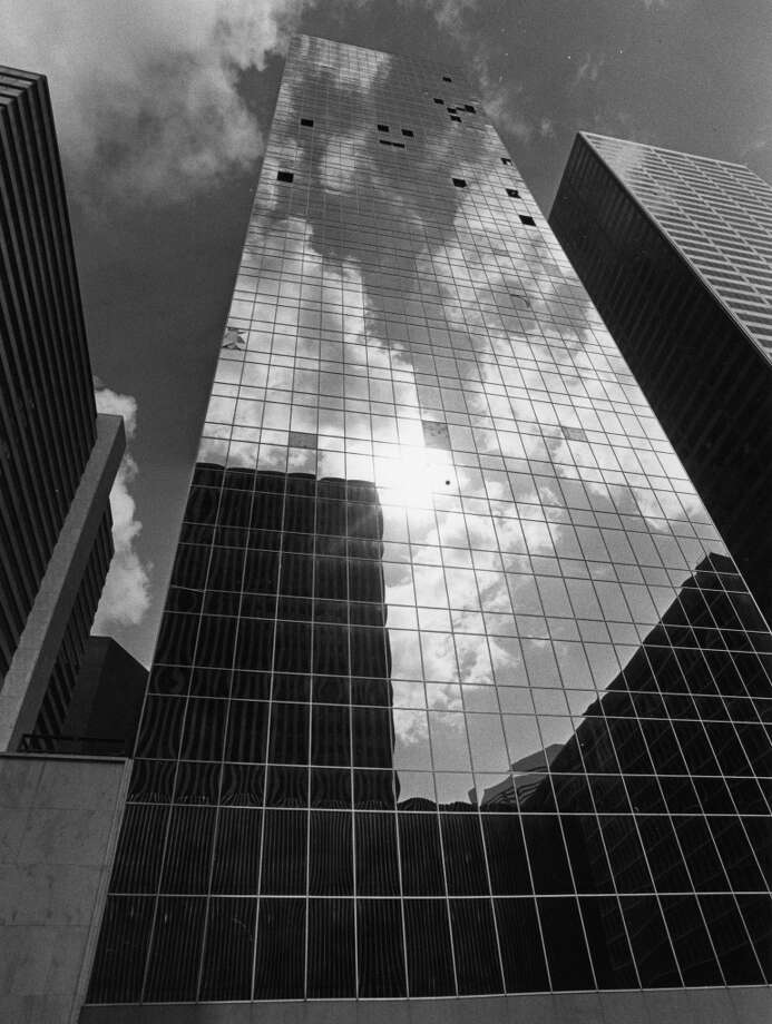 From the August 15, 1985, Houston Chronicle: Mayor Kathy Whitmire says Houston was better prepared to cope with Danny than with hurricane Alicia, which swept across the city in 1983 and caused damage to a number of downtown office buildings such as the Entex Building shown here. Debris blown off skyscraper roofs bro0ke windows, and downtown was cordoned off because of the broken glass. Since then, some building owners have enacted an emergency plan that ensures their building tops are checked for debris and that a supply of plywood is on hand in case of window breakage. Photo: Sam C. Pierson Jr., Houston Chronicle