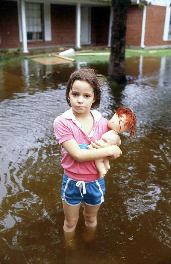 Flooding following Hurricane Alicia, August 1983 Photo: B.T., Houston Post / Houston Post file