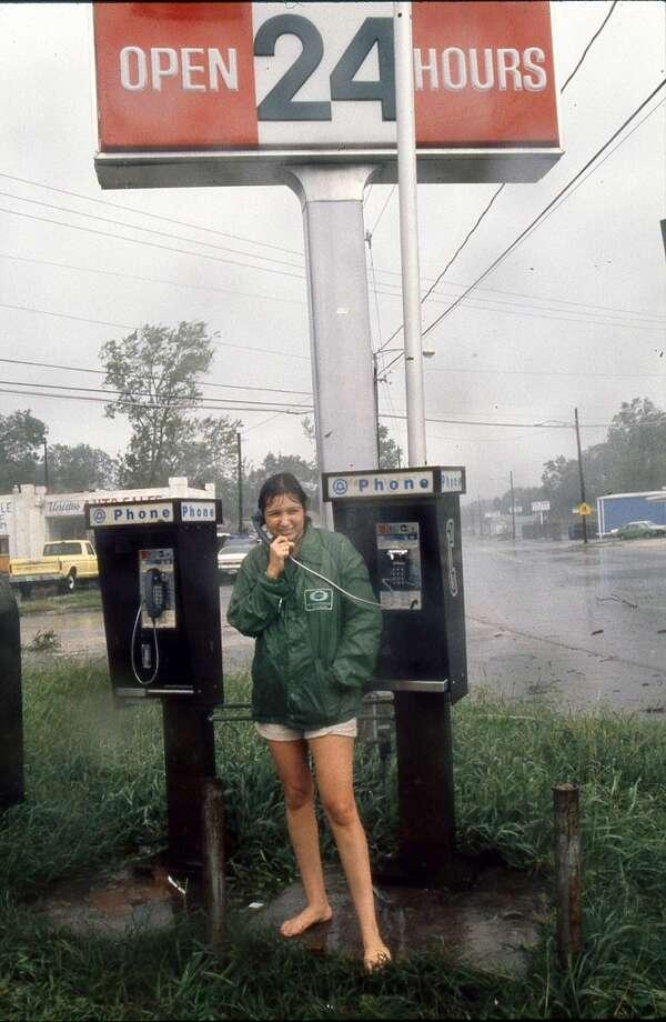 Cindy Espinoza at 4500 North Main, August 18, 1983. Photo: Carlos Antonio Rios, Houston Chronicle