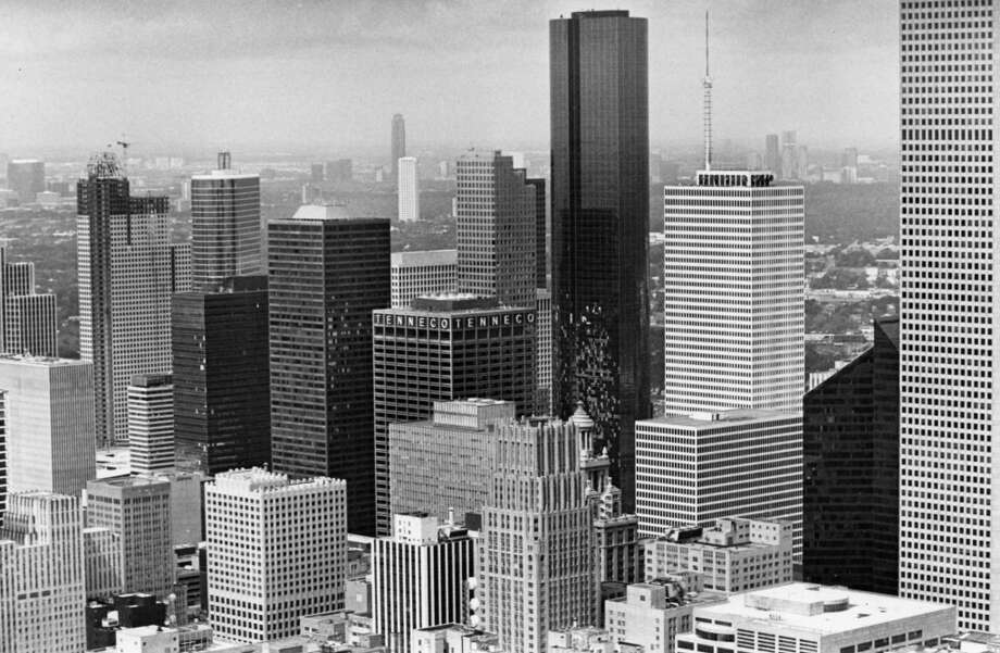 Downtown skyline, August 1983. Photo: Darrell Davidson, Houston Chronicle
