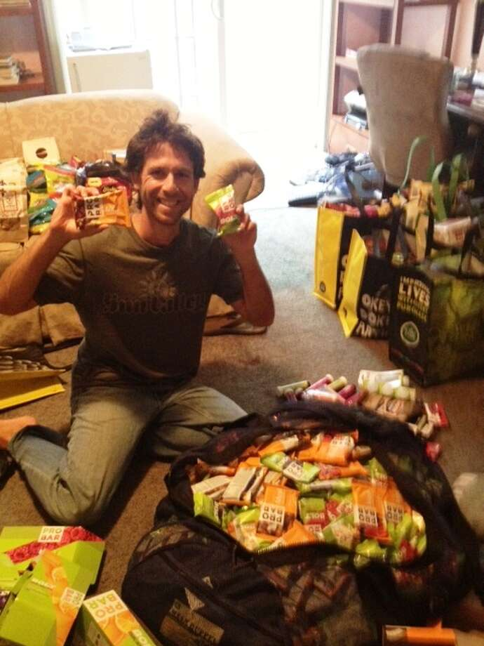 Packing up for trip with Pro Bars galore Photo: Josh Garrett