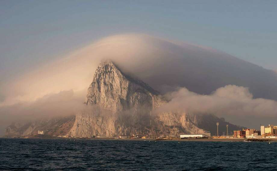 General view of Gibraltar from La Linea de la Concepcion, Spain, Sunday, Aug. 18, 2013.  Spanish fishermen in some 60 fishing boats protested on Sunday the building of an artificial reef near the disputed British territory of Gibraltar. The construction of the reef has soured political relations between Madrid and London. Photo: AP