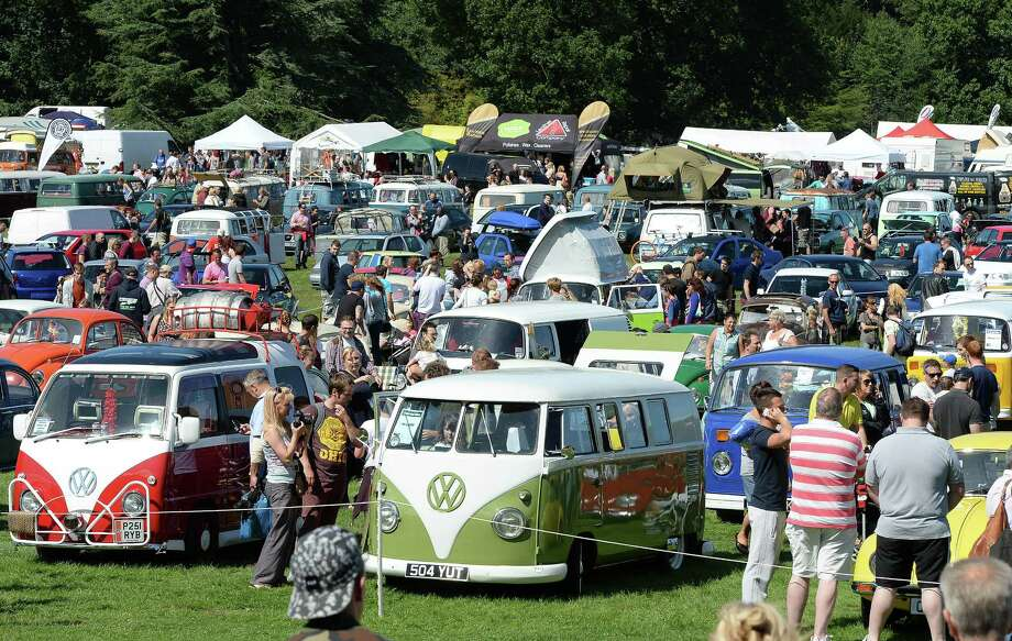 VW vehicles on display during the In Praise Of All Things VW At The Annual Festiva at Harewood Housel on August 18, 2013 in Leeds, Yorkshire. The annual VW festival in its 9th year attracts around 15,000 people over the weekend, ending with the winners car parade on Sunday. Photo: Nigel Roddis, Getty Images / 2013 Getty Images