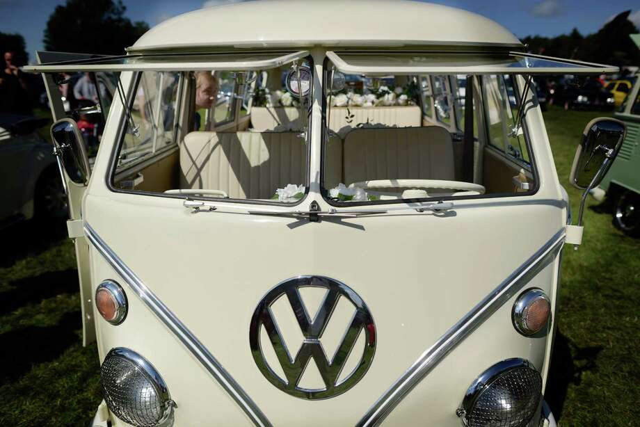 A VW campervan on display during the In Praise Of All Things VW At The Annual Festiva at Harewood Housel on August 18, 2013 in Leeds, Yorkshire. The annual VW festival in its 9th year attracts around 15,000 people over the weekend, ending with the winners car parade on Sunday. Photo: Nigel Roddis, Getty Images / 2013 Getty Images