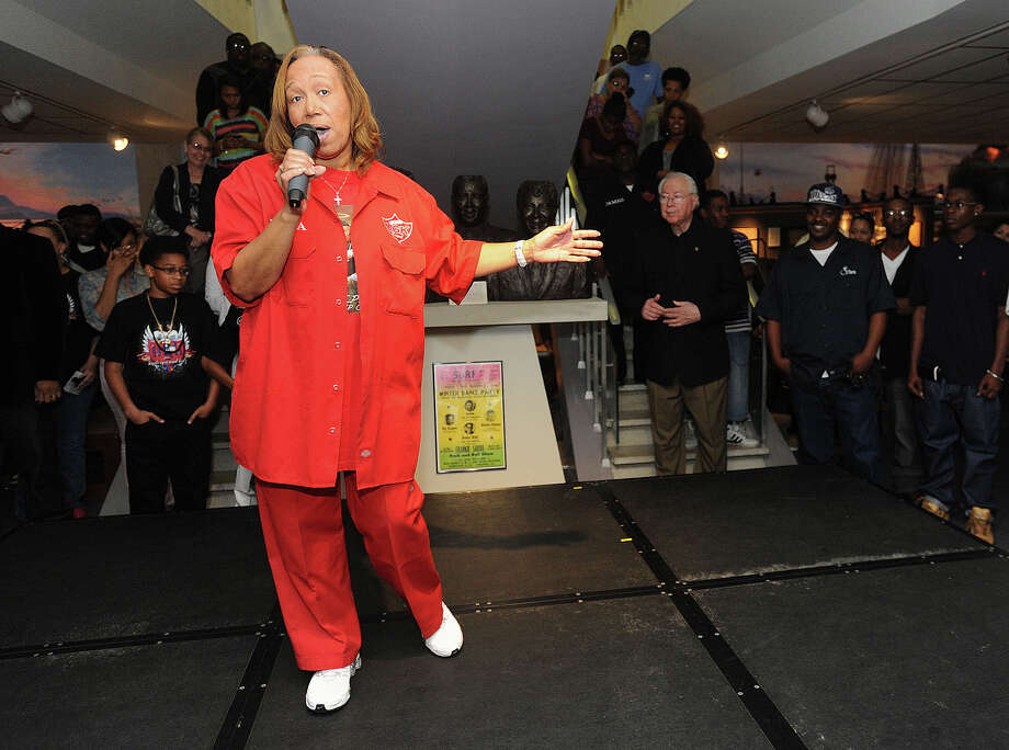 "Weslyn ""Mama Wes"" Monroe, pictured here at the opening of UGK's permanent exhibit Dec. 2, 2012, died early Sunday morning from Stage 4 cancer. She was the mother of late-rapper Pimp C. Monroe's cousin Rosalind Linden-Queen said she's going to be missed an awful lot. Guiseppe Barranco/The Enterprise Photo: Guiseppe Barranco, STAFF PHOTOGRAPHER / The Beaumont Enterprise"