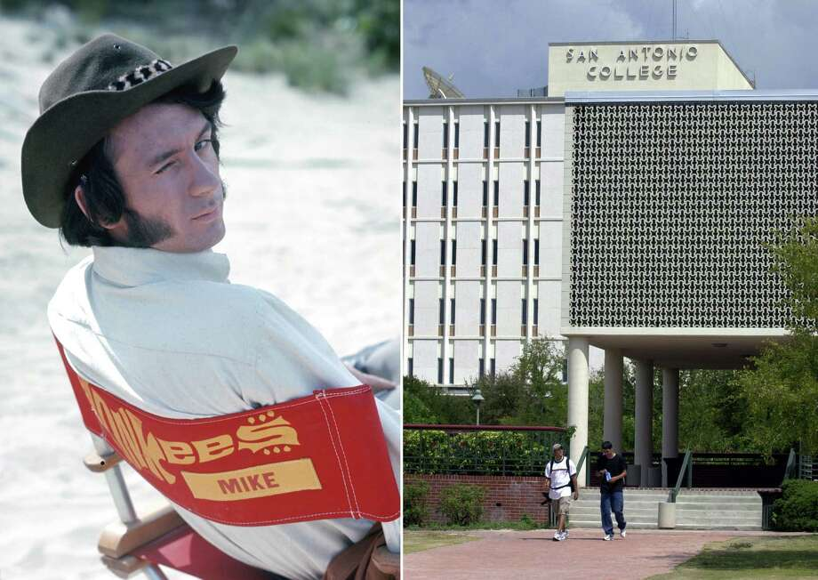 Michael Nesmith of the Monkees once attended San Antonio College, where he won musical competitions.Related Slideshow: Actors from San Antonio Photo: LEFT: Michael Ochs Archives/Getty Images, RIGHT: Jerry Lara / San Antonio Express-News / Michael Ochs Archives