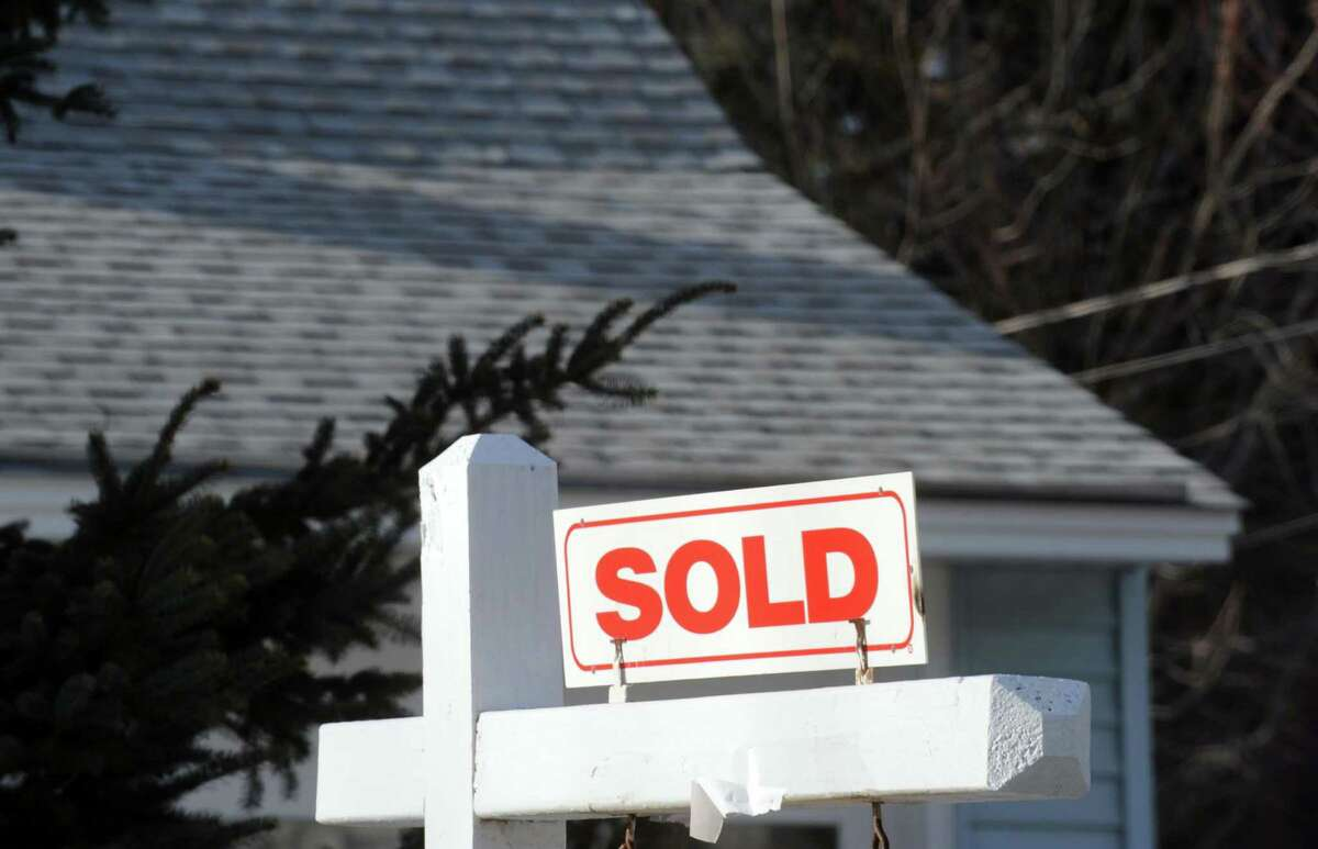 A home with a sold sign in Bethlehem, N.Y. (Michael P. Farrell/Times Union archive)