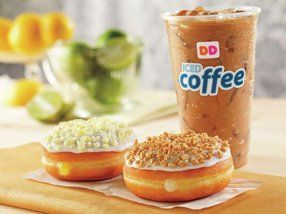 Products on the menu of Dunkin' Donuts, which is expanding in Houston. Photo: James Scherer
