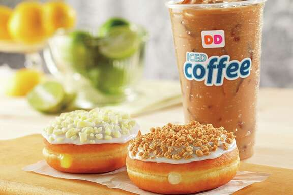 Products on the menu of Dunkin' Donuts, which is expanding in Houston.