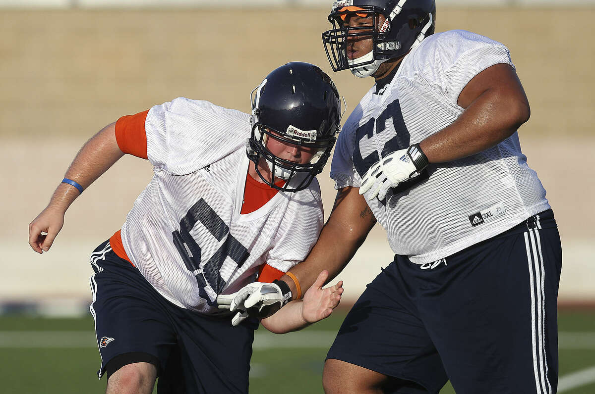 Center Nate Leonard (left) is part of a frontline trio that has been together since 2010.