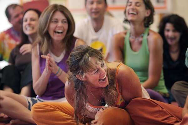 In addition to regular yoga, UCSF offers 'laughter yoga' classes.