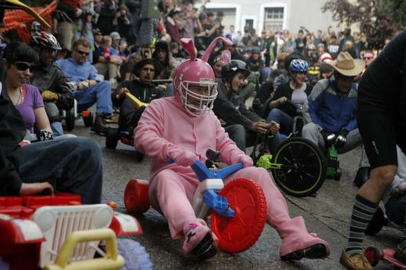 Spend your Easter in alternative fashion at the Bring Your Own Big Wheel race on Vermont Street...
