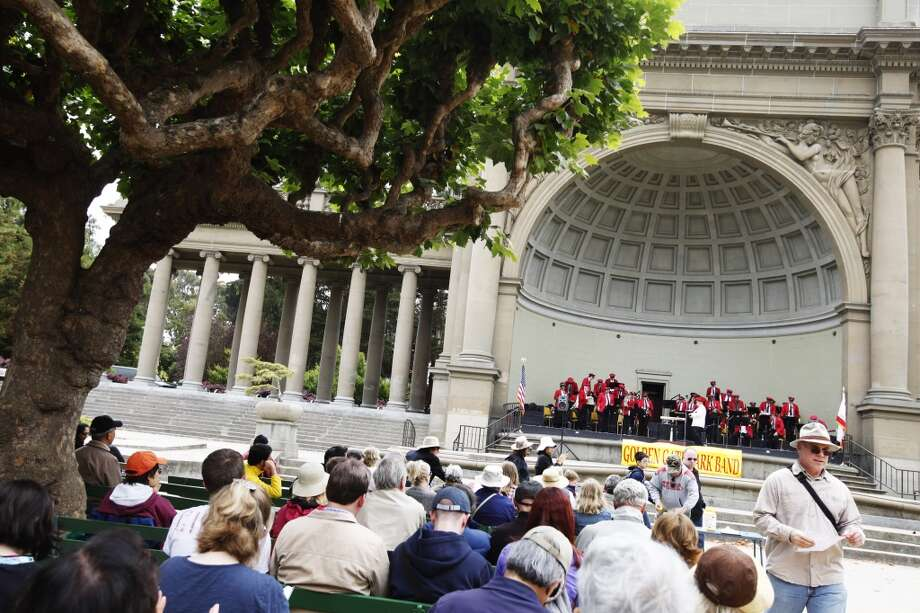 Check out the Golden Gate Park Band at the bandshell. Photo: Sonja Och, The Chronicle