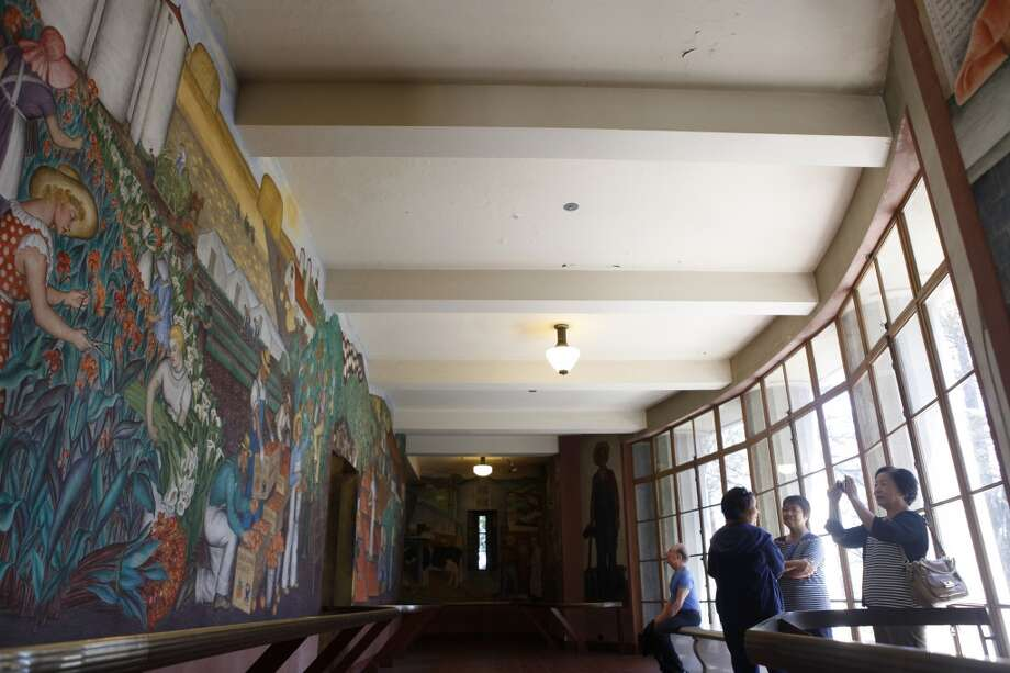 Visit Coit Tower to see the historic murals in the lobby (going up the tower costs extra). Photo: Katie Meek, The Chronicle