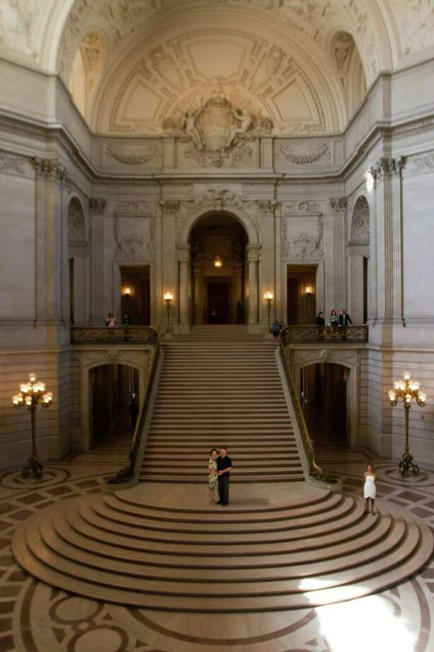 Take a walk through the City Hall rotunda.