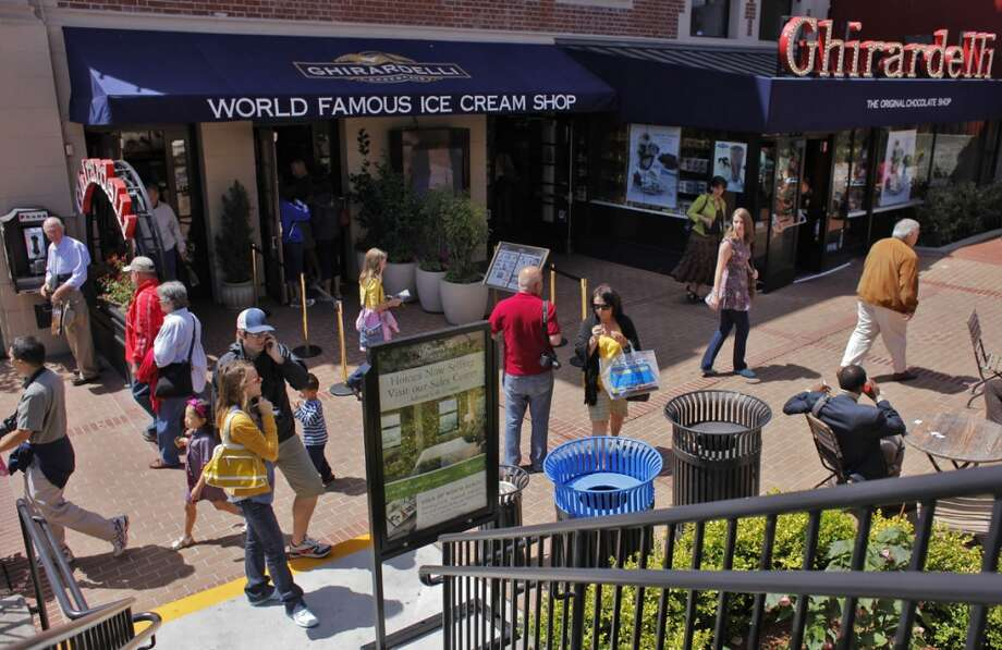 Visit the original Ghirardelli location at Ghirardelli Square for free chocolate samples. Photo: Lacy Atkins, The Chronicle