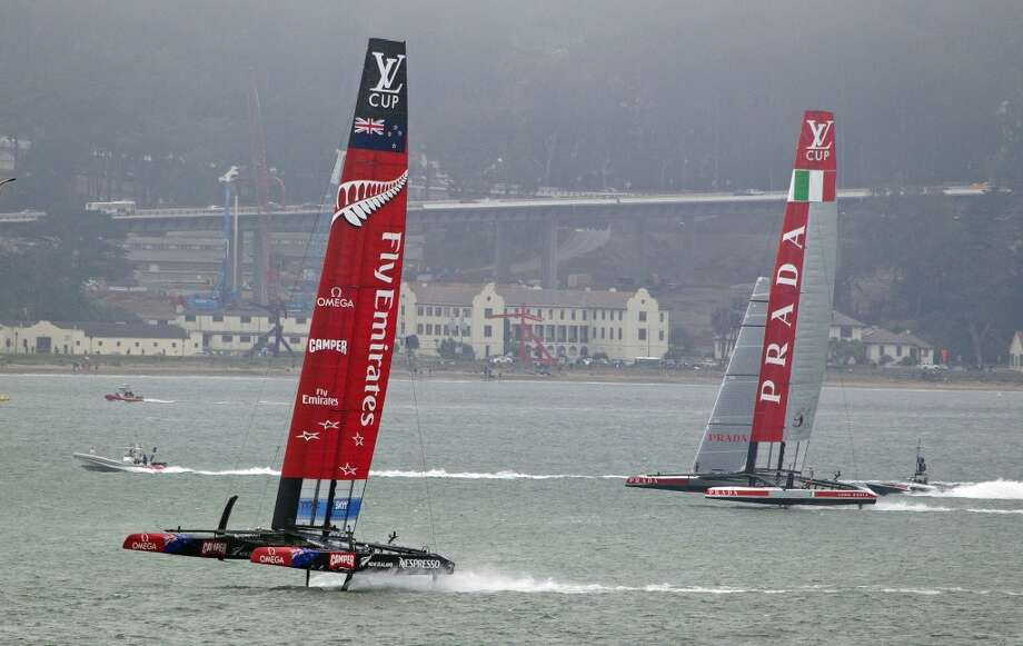 On a windy day, head out to Crissy Field or the waterfront to catch the sailboats. Photo: Chronicle File Photo