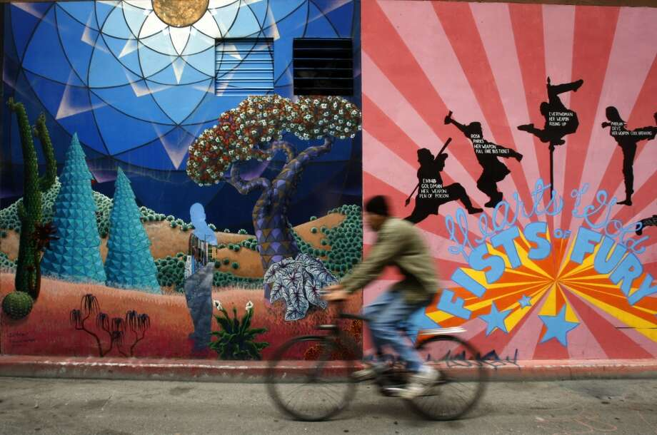 Check out the murals in the Mission's Clarion Alley. Photo: Chronicle File Photo
