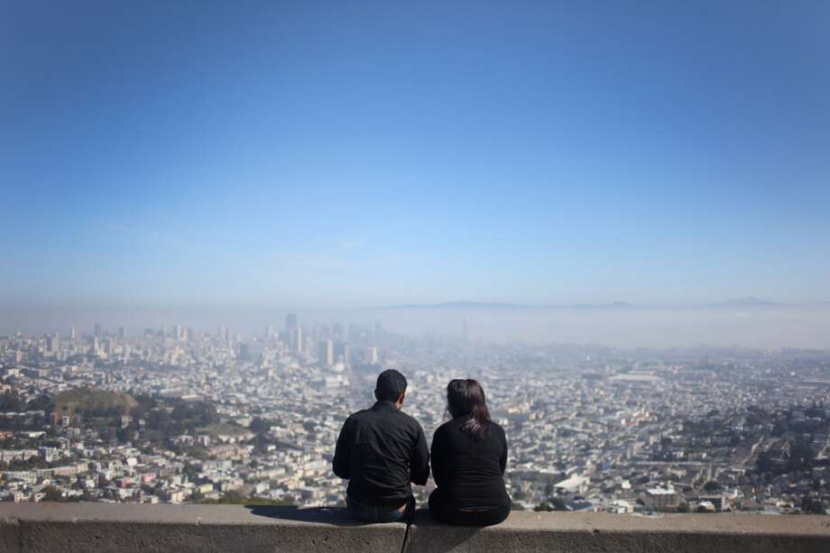 Drive, run, or bike up to Twin Peaks for a view of the city. Photo: Pete Kiehart, The Chronicle