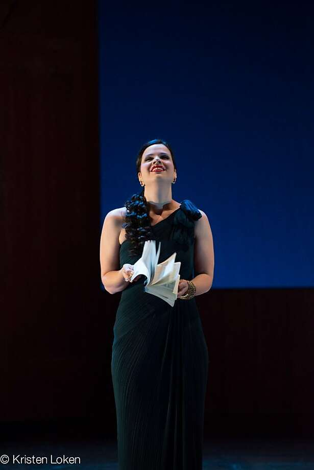 "Mezzo-soprano Zanda Svede made the evening's most unforgettable showing with an aria from Gounod's ""Sapho."" Photo: Kristen Loken"