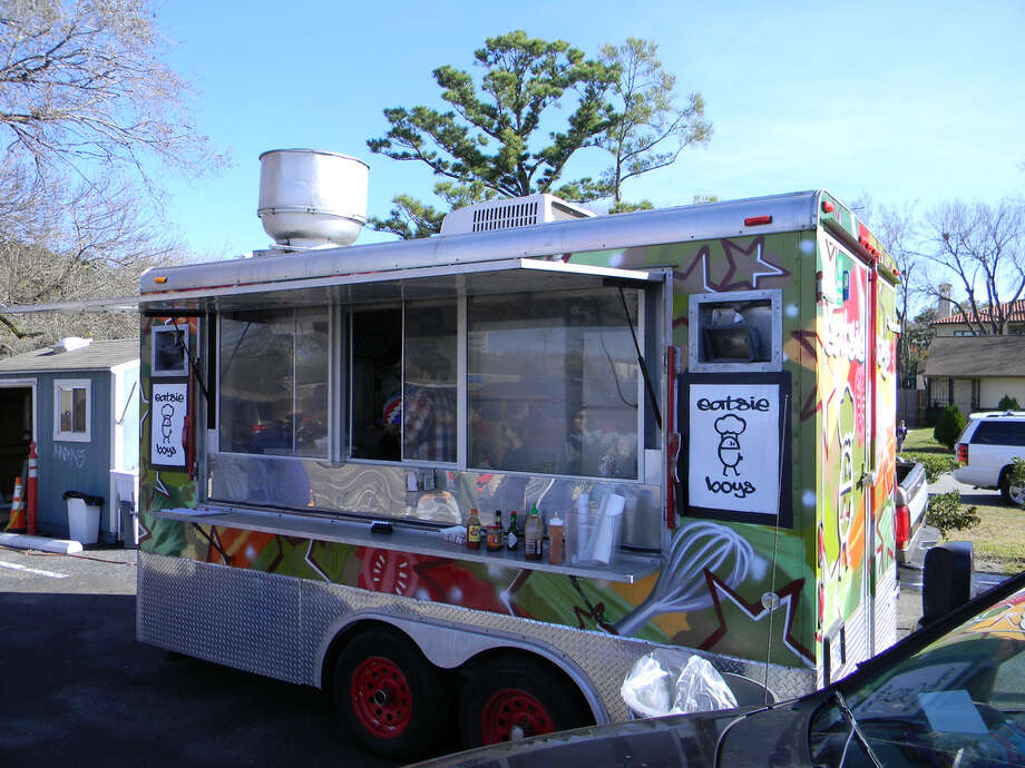 The Eatsie Boys mobile food kitchen as seen before the cafe opened in 2013. Photo: Paul Galvani