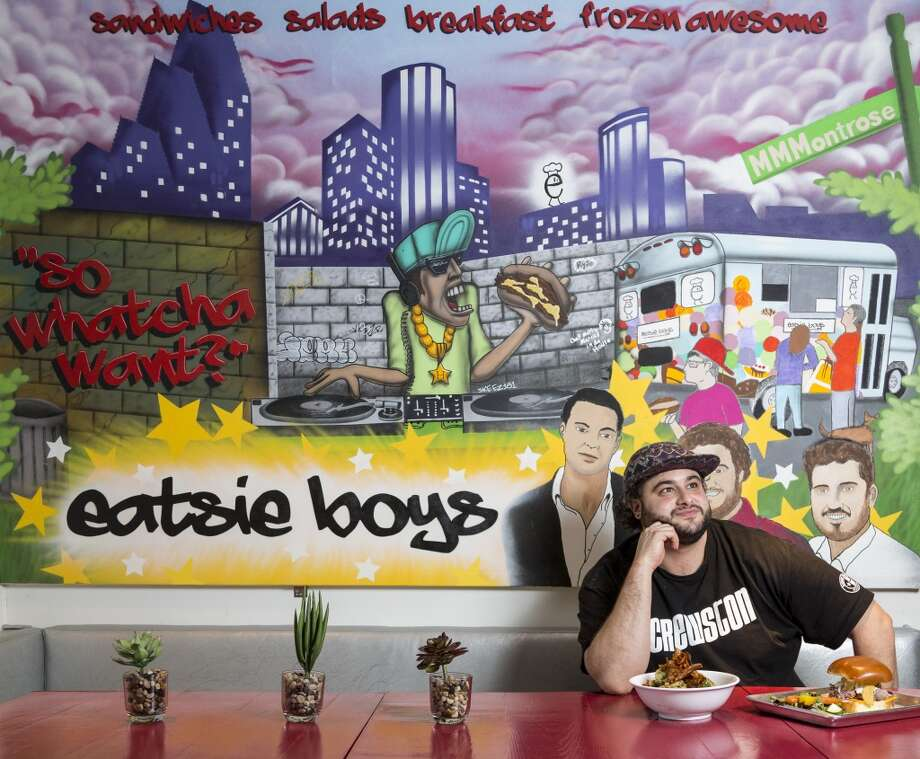 Eatsie Boys chef Matt Marcus poses for a photo inside the Eatsie Boys Cafe, located at 4100 Montrose. Photo: Michael Paulsen, Houston Chronicle