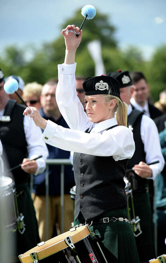 Participants take part in 2013 World Pipe Band Championships at Glasgow Green on August 18, 2013 in Glasgow, Scotland. The annual World Pipe Band Championships has returned to Glasgow this weekend, with 225 pipe bands competing for the title. Photo: Jeff J Mitchell, Getty Images / 2013 Getty Images