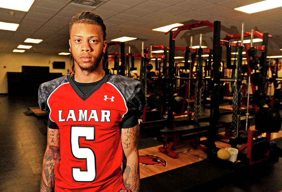 Lamar University wide receiver Mark Roberts on Friday, August 16, 2013. Photo taken: Randy Edwards/The Enterprise Photo: Randy Edwards, Photojournalist / Enterprise