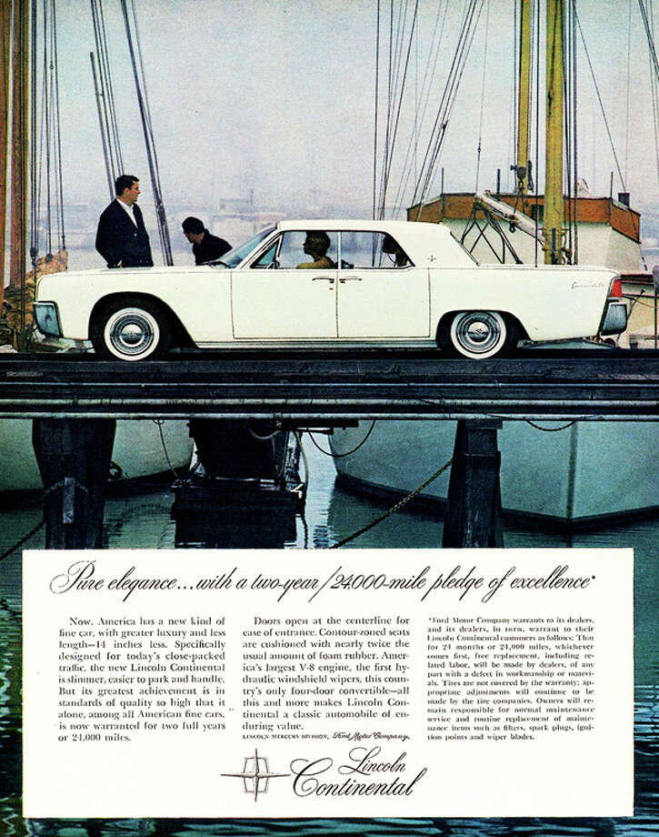 Build quality on these Lincolns was exceedingly high.  Cars were thoroughly tested pre-delivery.  For example, each engine was run for the equivalent of three hours at 98 mph, then torn down, inspected and reassembled.  In all, a new Continental had to meet some 200 quality control standards before it was approved.  And, as evidence of their confidence, Lincoln backed their cars with a 2 year/24,000 mile warranty.