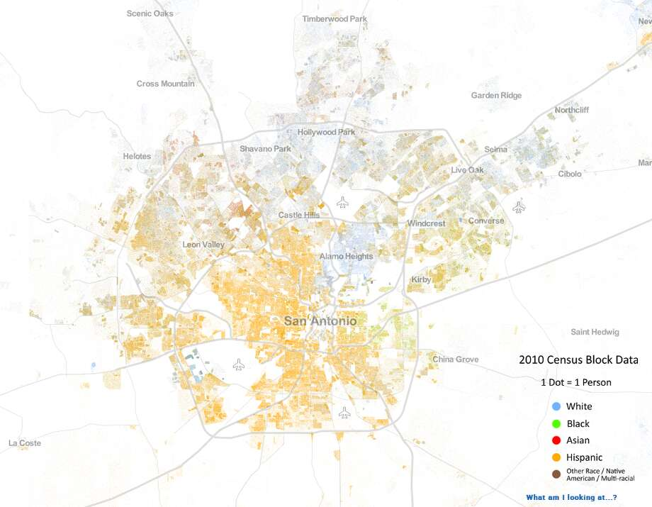 A look at San Antonio and surrounding towns. (Courtesy the University of Virginia)