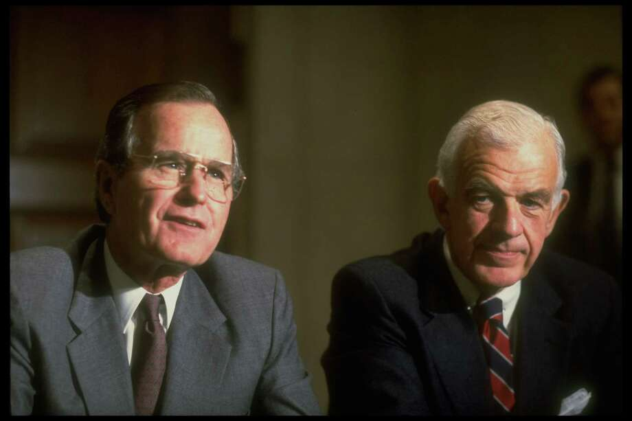 Tom Foley with President Bush during a budget battle on Capitol Hill. Photo: Terry Ashe, Getty / Terry Ashe