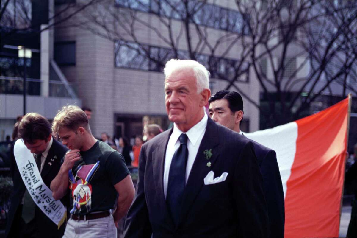 Former House Speaker Tom Foley became U.S. ambassador to Japan. Here, the big Irish-American from Spokane leads the the St. Patrick's Day parade held in Tokyo, March 14, 1999.