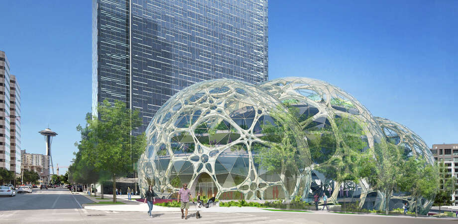 "Before we get to the rest of Emporis' list, we should note that another local billionaire -- Amazon Founder Jeff Bezos -- has proposed bringing this blob to his company's planned new headquarters in South Lake Union, the Seattle neighborhood that Allen has been developing. Actually, Amazon calls them ""spheres,"" and they're kind of a throwback to the geodesic dome craze.OK, on to the most spectacular blobs elsewhere. Photo: NBBJ,  Amazon"