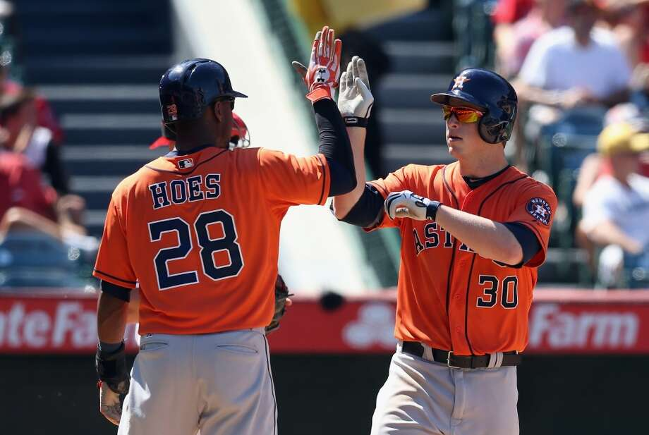Aug. 18: Astros 7, Angels 5  The Astros took the series finale - and the series - from the Angels in Los Angeles.  Record: 41-82. Photo: Jeff Gross, Getty Images
