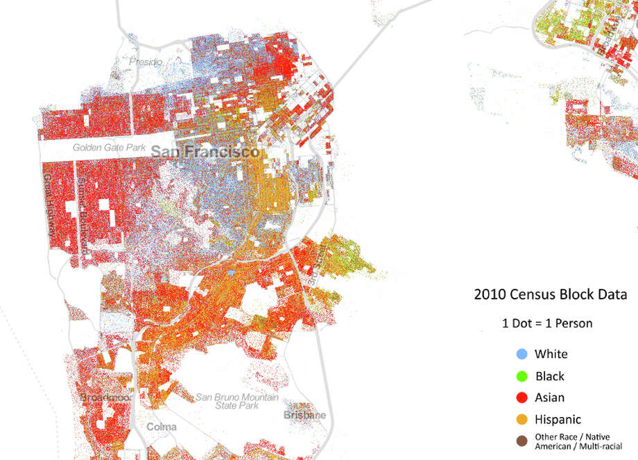 A look at San Francisco's ethnic mix. (Courtesy the University of Virginia)