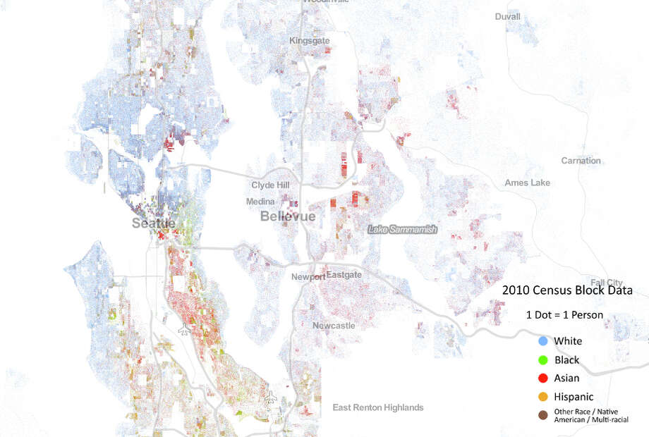 A view of Seattle and surrounding cities in Washington. (Courtesy the University of Virginia)