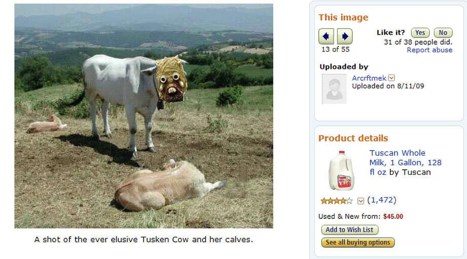 Customer photo of the Tuscan Whole Milk, 1 gal, playing off of Star War's Tusken Raiders. Photo: Amazon